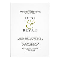 Simple Modern Elegant Typography Wedding Invite