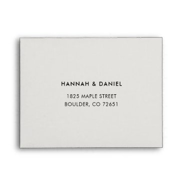 Beach Themed Simple Modern Elegant Wedding RSVP Envelope