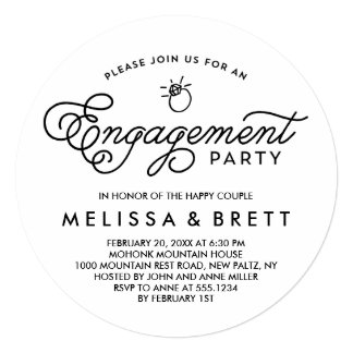 Simple Modern Engagement Party Invitation