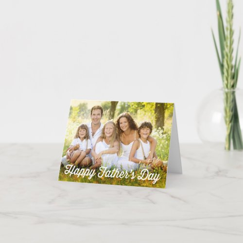 Simple Modern Fathers Day Photo Card
