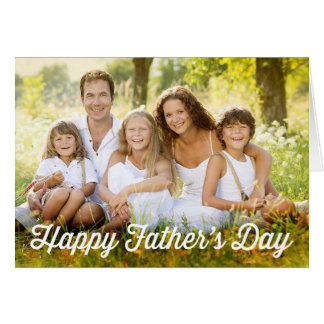 Simple Modern Father's Day Photo Card