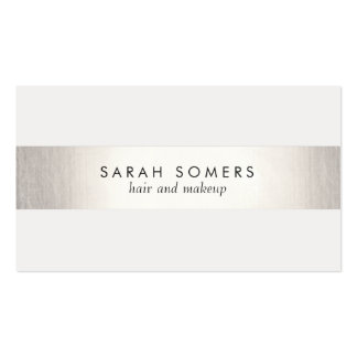 Simple Modern FAUX Silver Striped Business Cards