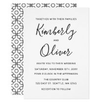 Simple Modern Fiorellino Wedding Invitation