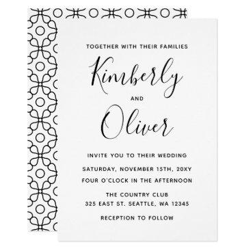 Simple Modern Fiorellino Wedding Invitation