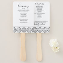 Simple Modern Fiorellino Wedding Programs Hand Fan