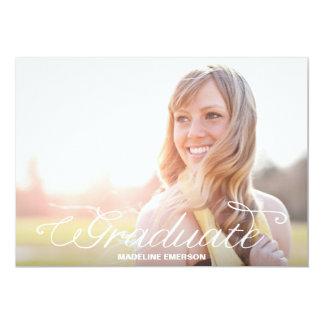 Simple Modern Graduation Overlay 5x7 Paper Invitation Card