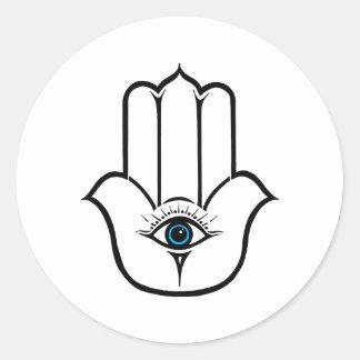Simple Modern Hamsa Hand of Fatima Classic Round Sticker