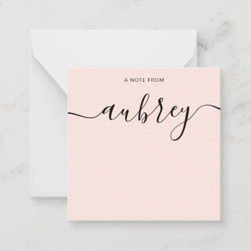Simple Modern Handwritten Calligraphy Note Card