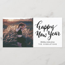 Simple Modern | Happy New Year Casual Script Holiday Card