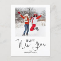 Simple Modern Happy New Year's Photo Postcard