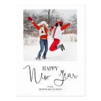 Simple Modern Happy New Year's Photo Postcard
