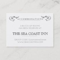 Simple modern hotel accomodations card
