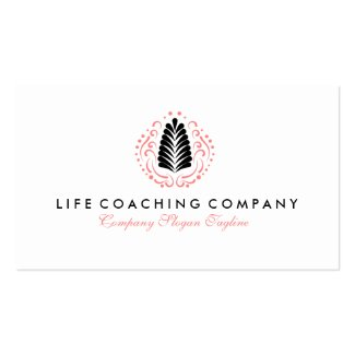 Simple Modern Life Coaching Logo Design Double-Sided Standard Business Cards (Pack Of 100)