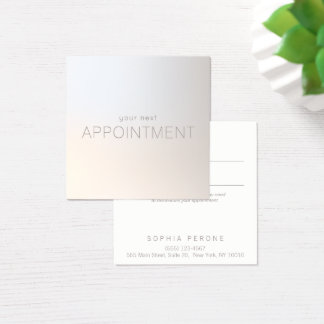 Simple Modern Luminous Appointment Reminder Square Business Card