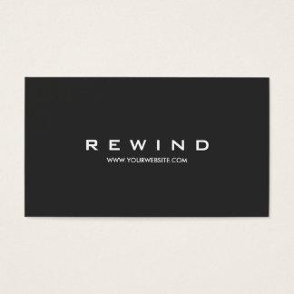 Simple Modern Minimalist Black Business Card