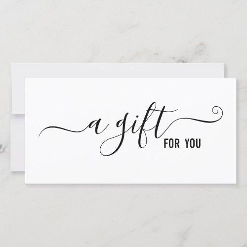 Simple Modern Minimalist Business Gift Certificate