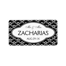 Simple Modern Mr and Mrs Personalized Wedding Personalized Address Label