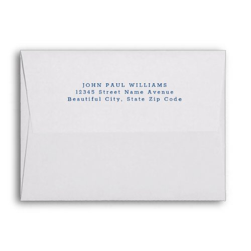 Simple Modern Navy Blue Name Address Envelope