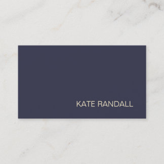 Simple Modern Navy Blue Professional Business Card