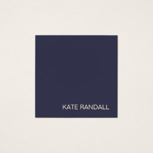 Navy blue business cards templates zazzle simple modern navy blue professional square square business card colourmoves Gallery