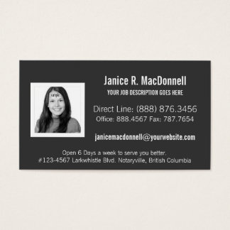 Simple Modern Photo Any Profession Business Card