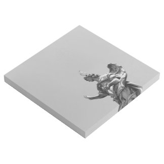 Simple, modern photo of seagull on top of statue gallery wrap