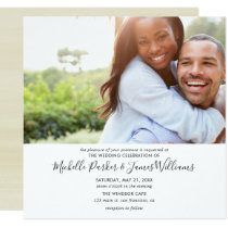 Simple Modern Photo Wedding Invitation