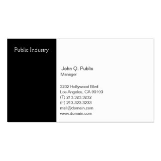 Simple Modern Professional Black and White Business Card