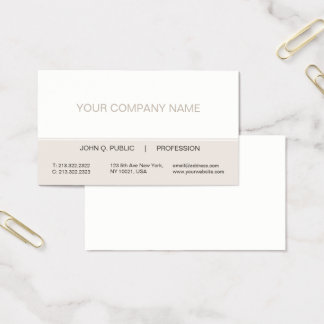 Simple Modern Professional Create Your Own Matte Business Card