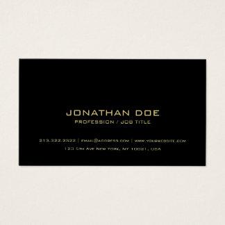 Simple Modern Professional Elegant Black Classy Business Card