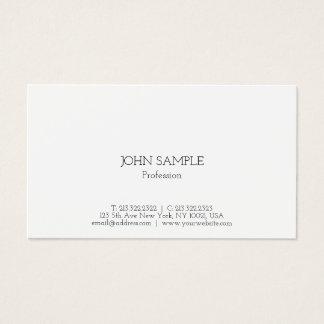 Simple Modern Professional Elegant Plain Gloss Business Card
