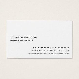 Simple Modern Professional White Elegant Business Card