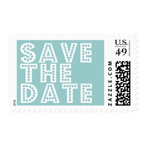 Simple Modern Save The Date postage - customize