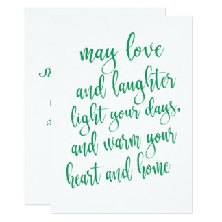 Simple Modern Script St Patrick's Day Party Card