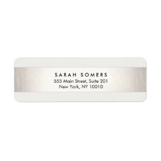 Simple Modern Silver Striped Professional Label