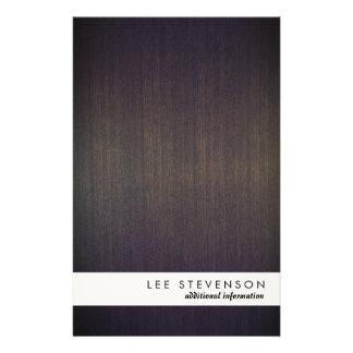 Simple Modern Stripe Wood Look Flyer