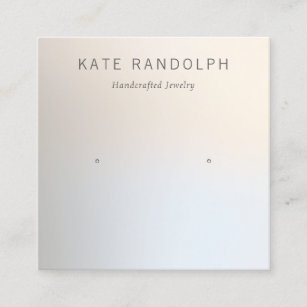 Simple Modern Stud Earring Jewelry Display Square Business Card