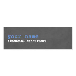 Simple Modern Texture Grey Consultant Mini Business Card