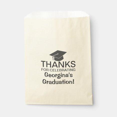 Simple Modern Thank You For Celebrating Graduation Favor Bag