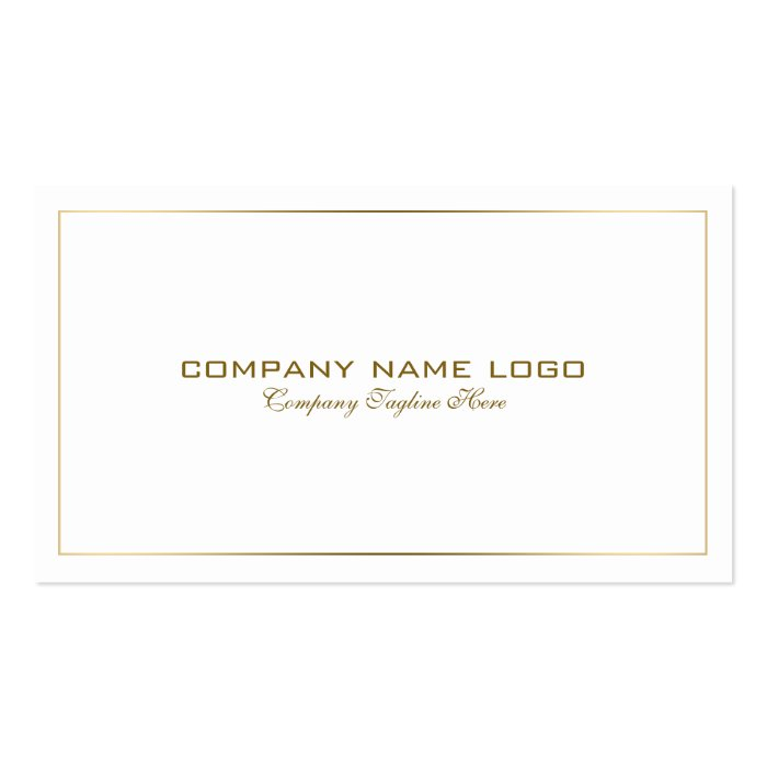 simple modern tin gold border on white business card  zazzle
