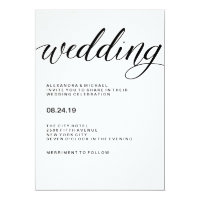 Simple Modern Typography on Watercolor Paper Card