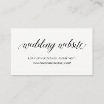 Simple Modern Typography | Wedding Website Insert
