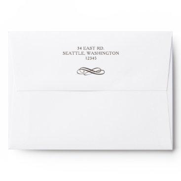 simple modern vintage wedding envelope