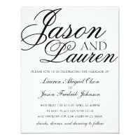 Simple Modern Wedding Invitation