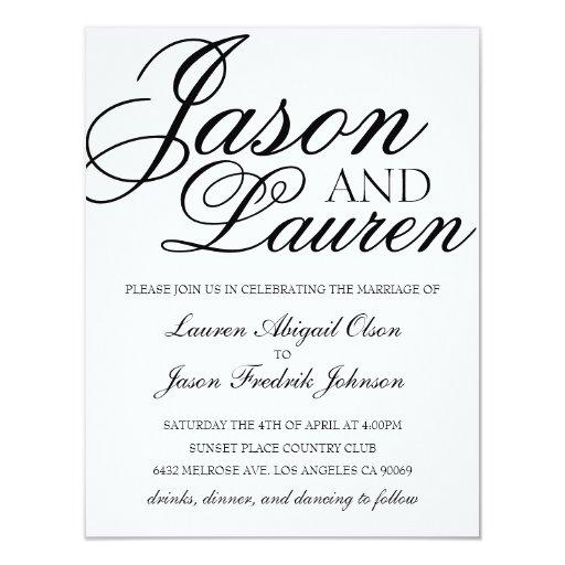 simple modern wedding invitation zazzle