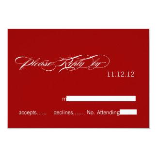 SImple Modern Wedding RSVP Cards Red White