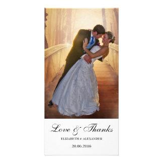 Simple Modern Wedding Thank You Photo Card