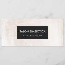 Simple Modern White and Black Gift Certificate