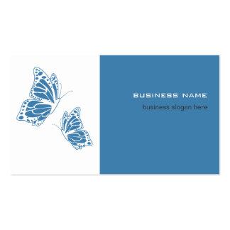 Simple moderno elegante azul y blanco de la maripo tarjetas de visita