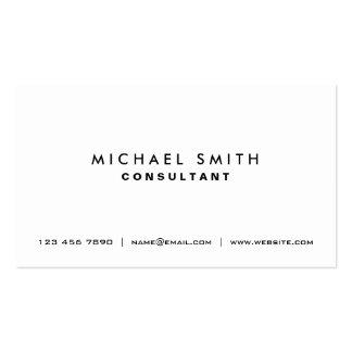 Simple moderno elegante blanco llano profesional tarjetas de visita
